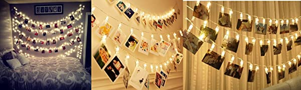 Led Photo Clip String. Picture Lights