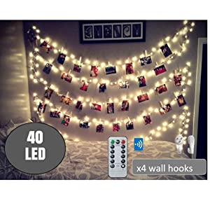 Led Photo Clip String Lights. Picture Lights with Clips