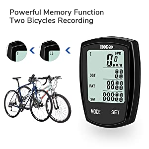 powerful memory function, two bicycle recording