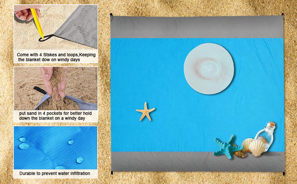 Sand proof beach blanket