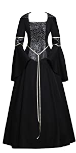 Medieval Gothic Witch Vampire Costume Dress