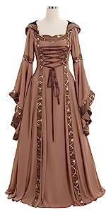 Maria Olive Greenamp;Copper Victorian Dress Costume