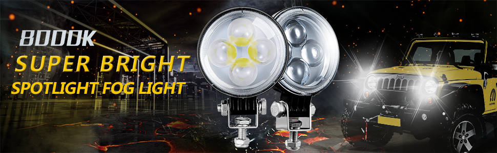 Voltage Automotive LED 3 inch round fog driving spotlight with lens
