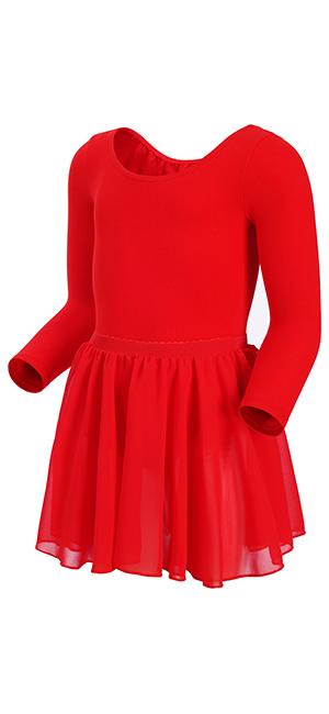 1e5a7a76d Amazon.com  MAGIC TOWN Long Sleeve Leotard Ballet Tutu Dress for ...
