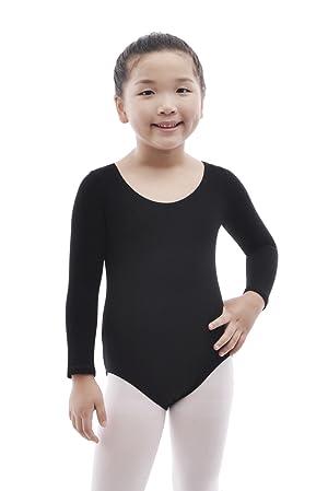34c40226 MAGIC TOWN Team Basic Classic Long Sleeve Leotard for Toddler Girls Ballet  Dance - Black