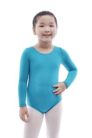 7096005a MAGIC TOWN Team Basic Classic Long Sleeve Leotard for Toddler Girls Ballet  Dance - Blue