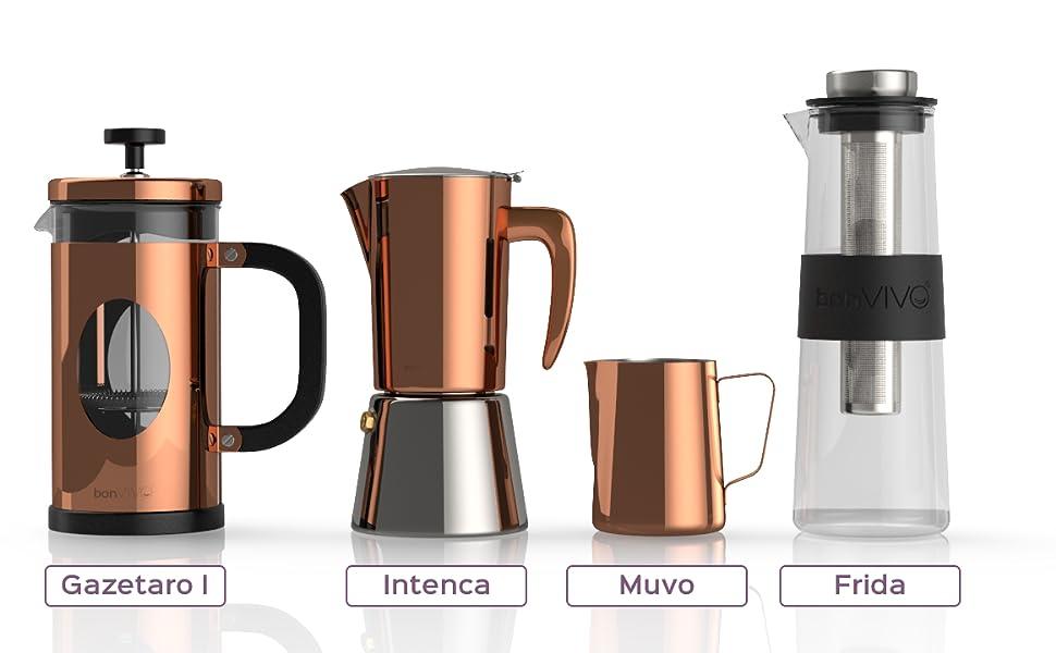 Amazon.com: BonVIVO - Cafetera italiana de espresso Intenca ...