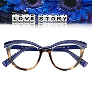 a38871418231 Amazon.com: Zeelool Women's Oversized Browline Cat Eye Glasses Frame ...