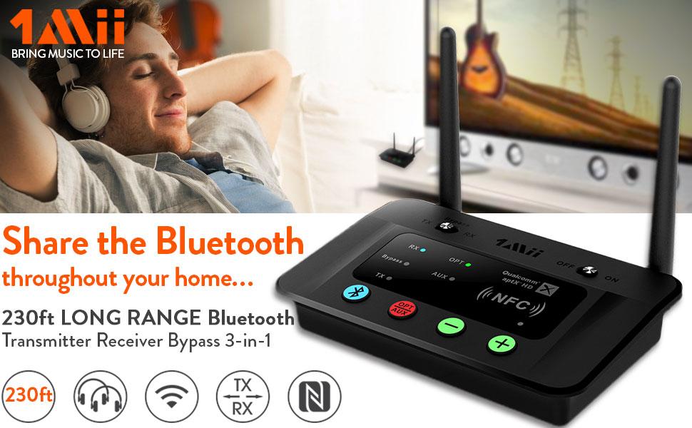 1Mii B03 Long Range Bluetooth Transmitter Receiver