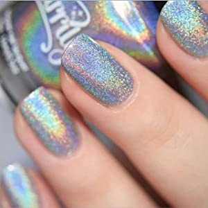 Silver Rainbow Magic Ultra Holographic Nail Polish Full Size Bottle by  Starrily , Magic Rainbow