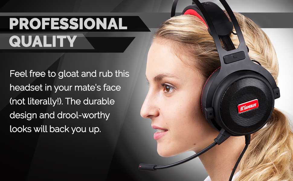 Pro Gaming Headset with Mic (Universal) | Game Changing Premium 3D HD  Stereo Sound Video Gamer Wired Headphones for Xbox One, PS4, PC, Laptop and