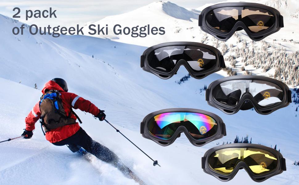 Amazon.com: Anteojos de esquí Outgeek, paquete de 2 ...