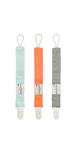 Amazon.com : Babygoal Pacifier Clips Solid Color, 3 Pack ...