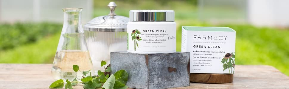 green clean make up remover skin clearing eye makeup remove cream rub smells good natural cleanser