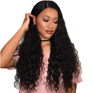 Maxine Water Wave Hair Brazilian Virgin Lace Frontal Closure Free Part