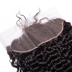 Maxine Water Wave Hair Brazilian Virgin Lace Frontal Closure 13x4'' Free Part Natural Looking