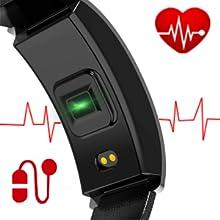 heart rate blood pressure blood oxygen BPM heart rate sensor monitor