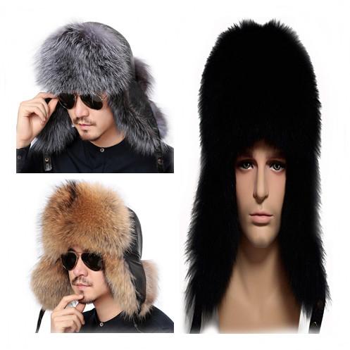 af7b04a4ede Mens Fox Fur Hat - Valpeak Mens Winter Hat Real Fox Fur Genuine Leather  Russian Ushanka Hats. This hat is made of real fox fur.