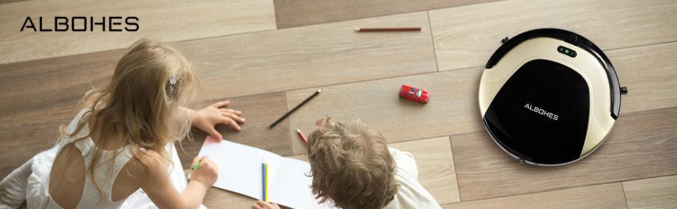 alfombras de Pelo Medio autocargante Piso Duro Tacey Aspiradora Robot Delgada para Pelo de Mascotas Aspiradora silenciosa aspiradora rob/ótica 3000Pa