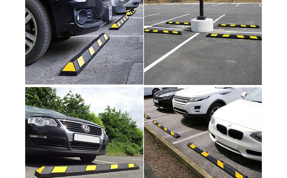 Garage Parking Stop >> 3 9 Height With 4 Pieces Mounting Anchor Kit Driveway