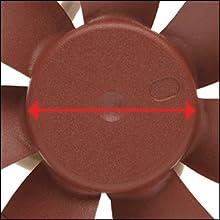 Reduced motor hub size