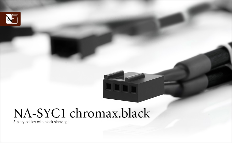 Noctua NA-SYC2 3 Pin Y-Cables for PC Fans Black