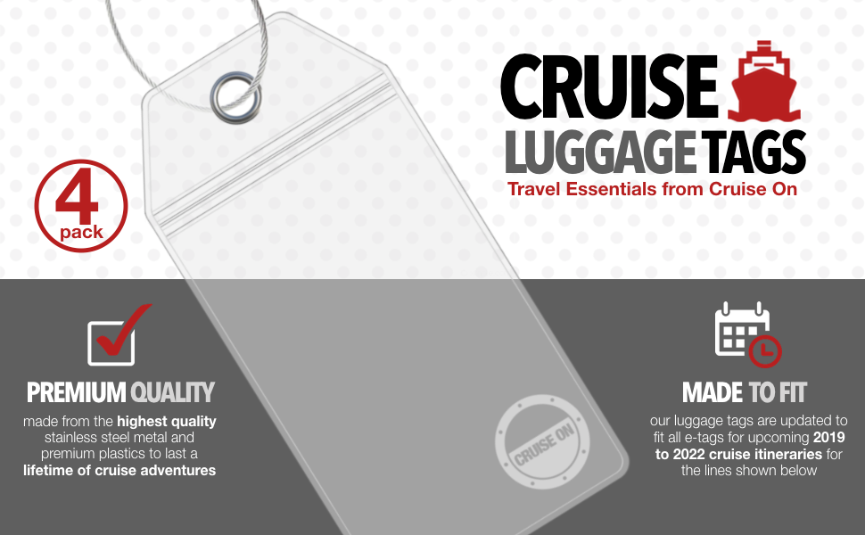 Best Luggage Tags 2020 Amazon.| Cruise Luggage Tags   Large Tag Holders for your
