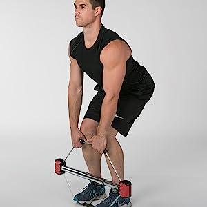 Deadlift and Leg Exercise Machine for Total Body Fitness