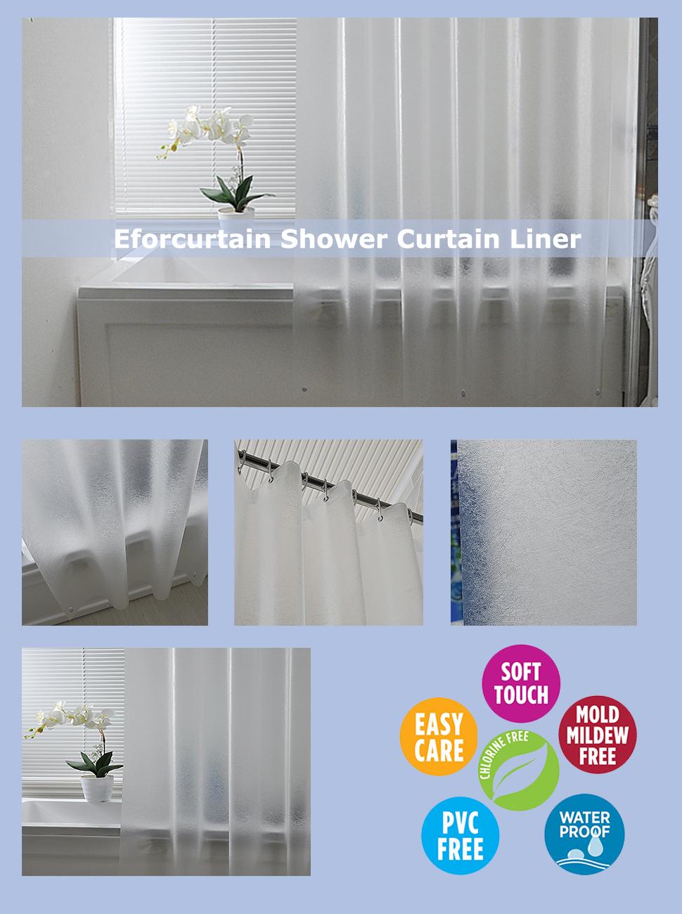 Amazon.com: Eforcurtain Subtle Semi-transparent Shower Curtain 18 ...