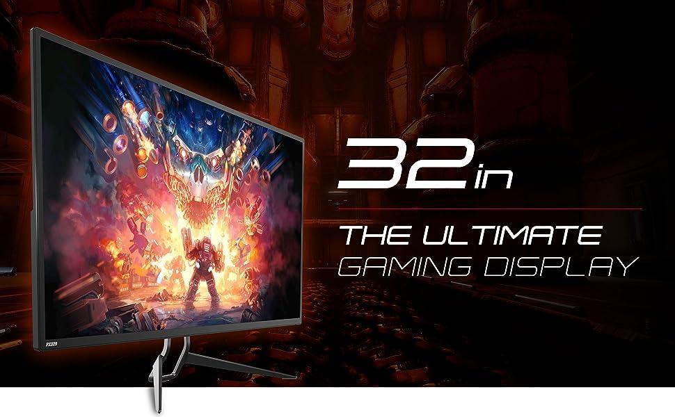 Pixio PX329 32 inch 165Hz WQHD 2560 x 1440 Wide Screen Display Professional  1440p Flat 32-inch AMD Radeon FreeSync Certified Gaming Monitor, 2 Years