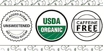 No Added Sugar Unsweetened USDA Organic Caffeine Free Natural Herbal