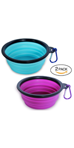 dog foldable collapsible travel bowl