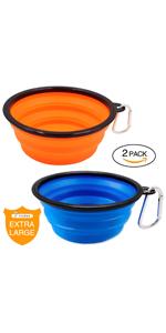 dog travel foldable bowl