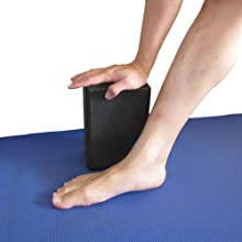 YogaAddict Yoga Blocks 2 Pack and Cinch Strap Set with Gift Box, High Density Foam Blocks to Support & Deepen Poses, Improve Strength, Increase ...