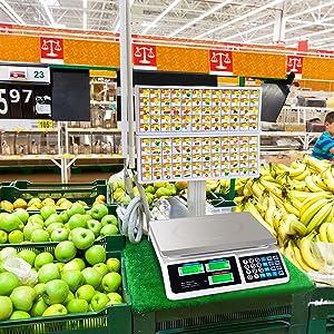 market fruit vegetable scale