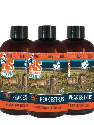 peak estrus deer urine scent attractant
