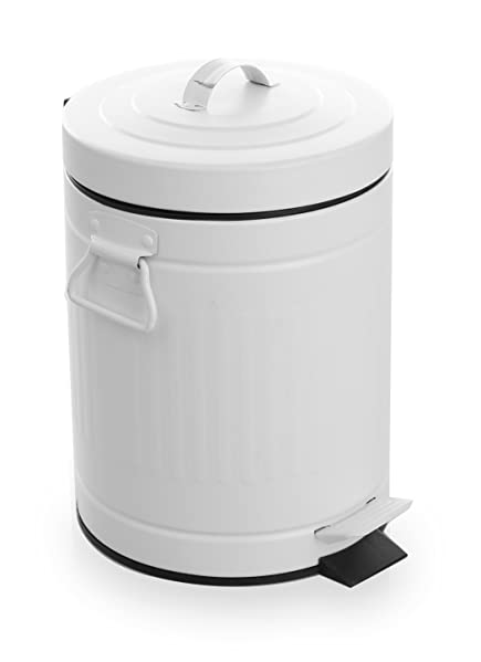 with a small footprint this mini trash can is great for tinier spaces such as a bathroom or under a sink the removable inner bucket makes emptying this