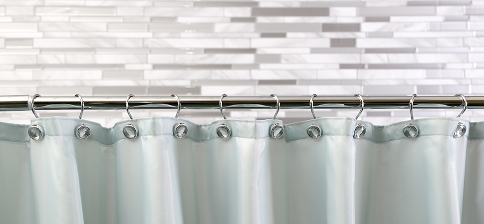 Jewel Chrome Shower Curtain Hooks By BINO