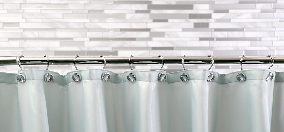 U0027Jewelu0027 Chrome Shower Curtain Hooks By BINO