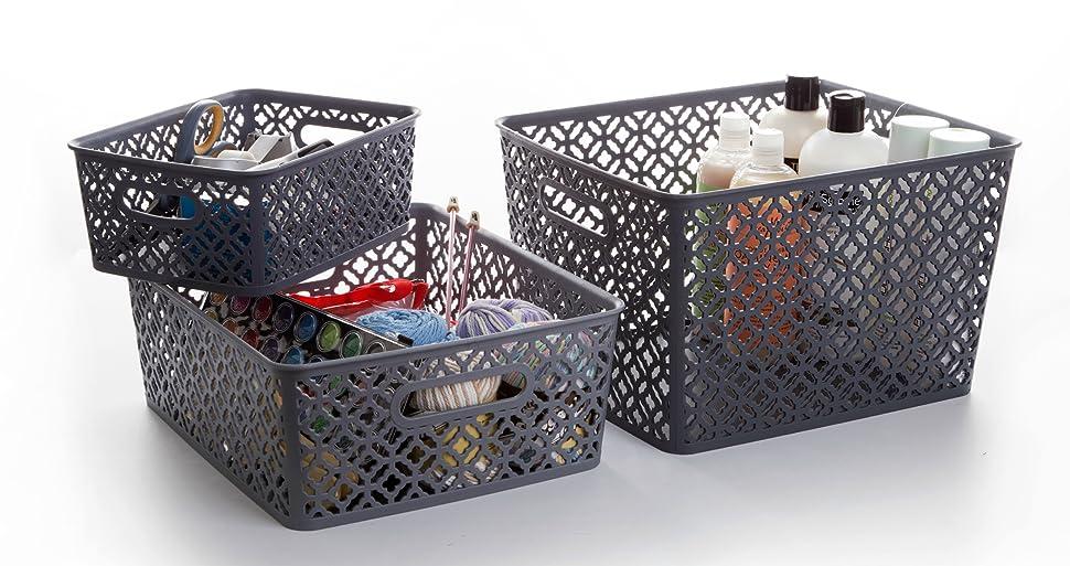 BINO Woven Plastic Storage Basket