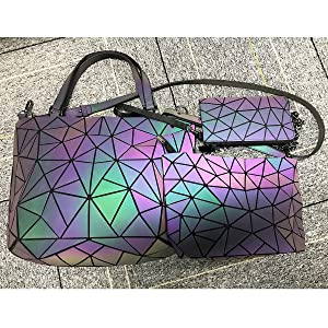 Geometric Luminous Purses and Handbags for Women