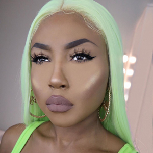 green lace front wigs