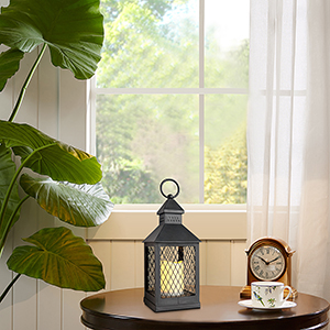 LED Candle Lantern Decorative Indoor Outdoor Hanging Lantern with Waterproof Flameless Candle