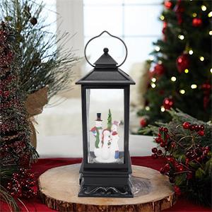 Christmas Snow globe lantern water glittering lighted lamp