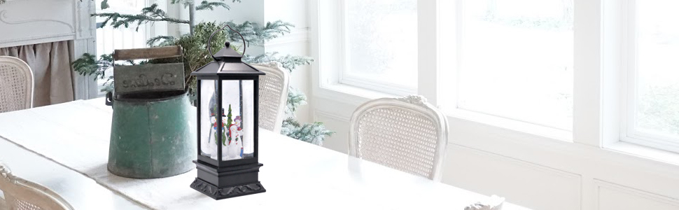 Christmas Snow Globe Lantern Lighted water lamp for decoration