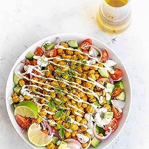Herb recipe chickpea salad