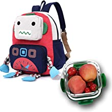 kids toddler bag cute robot small Bear rabbit dinosaur preschool backpack safety harness children