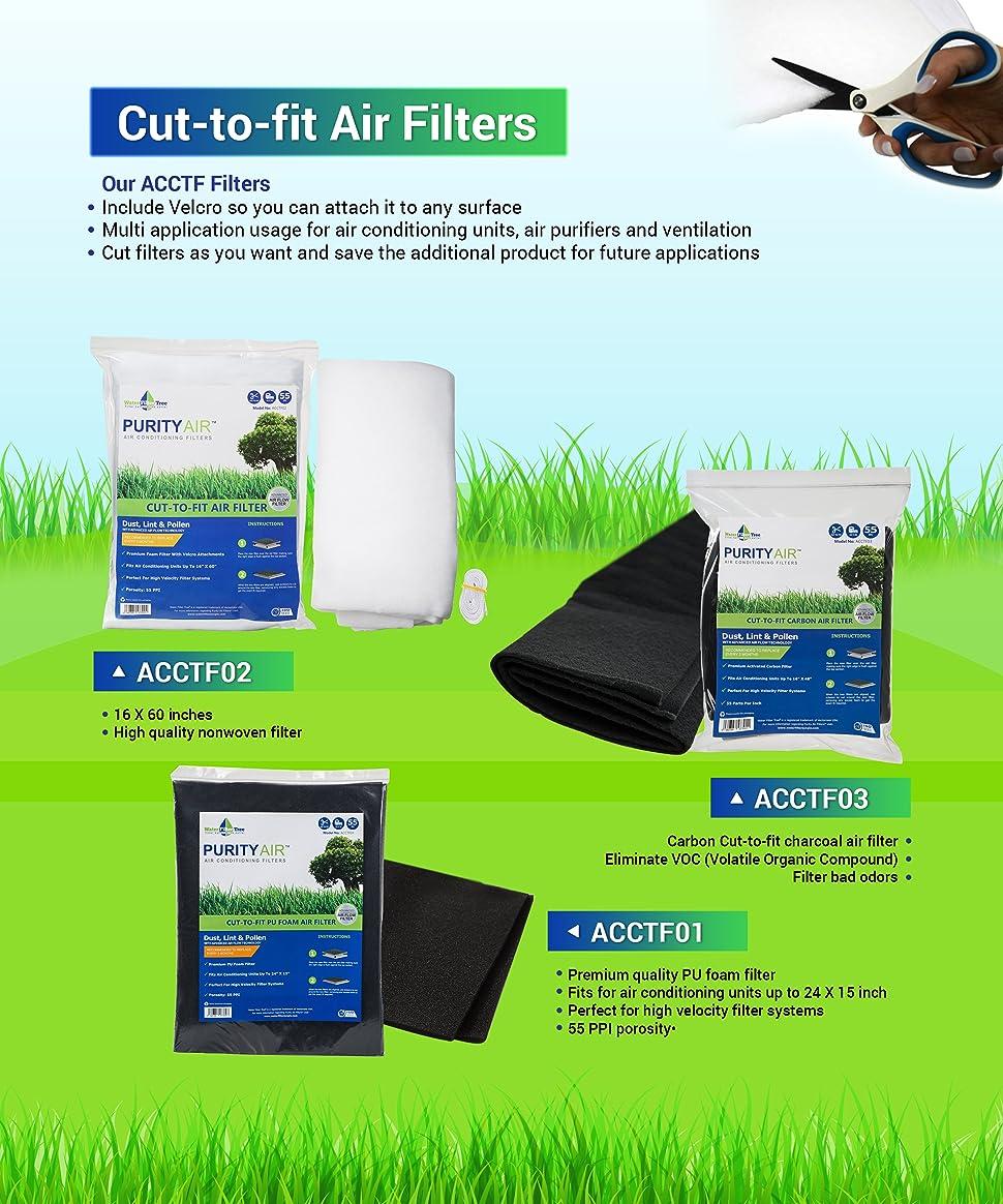 16x 25x 1 Aqua-Flo Cut to Fit AC Furnace Premium Washable Reusable Air Filter