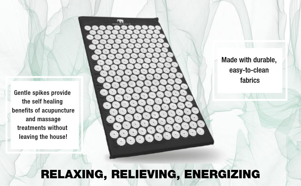 bed of nails bon original acupressure mat for pain relief anxiety neck back pain relaxation massage