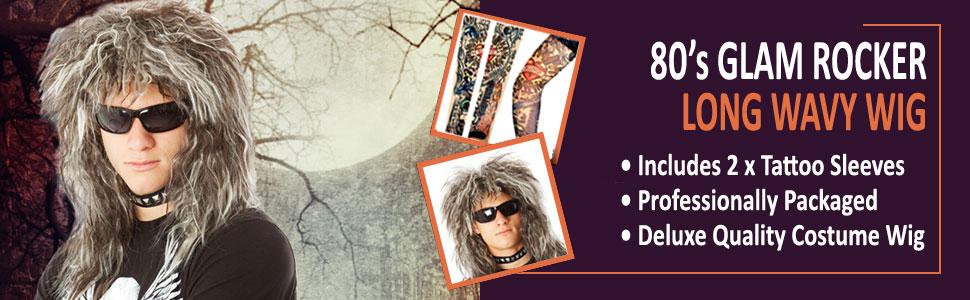 Bon Jovi Wig or Tina Turner! 80's Rocker Wig for Men and Women Rockstar Halloween Crimp Curl Costume